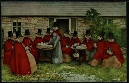 Ref 1246 - Ethnic Postcard - A Group Of Welsh Women Taking Tea - Wales - Europe