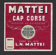 Etiquette De Cap Corse  - François  Mattei  à Bastia  Corse (20) - Etiquettes