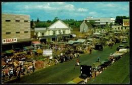 Ref 1246 - 1979 Postcard - Market Day - The Market Romford Essex - South Woodham Slogan - Angleterre