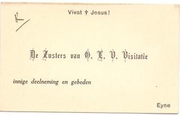 Visitekaartje - Carte Visite - Zusters Van OLVr Visitatie - Eine - Cartes De Visite