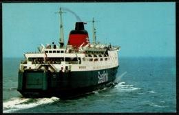 Ref 1246 - Shipping Maritime Postcard - Sealink Ferry Hengist At Folkestone - Ferries
