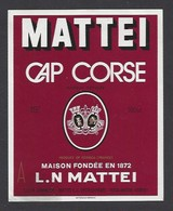 Etiquette De Cap Corse Mattei  - SICA Uvihacor à Toga Bastia  Corse (20) - Etiquettes