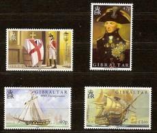 Gibraltar 2005 Yvertn°  1119-1122 *** MNH Cote 14,50 Euro Bataille De Trafalgar HMS Victory - Gibraltar