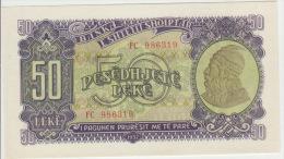 Albania 50 Leke 1957 Pick 29 UNC - Albanie