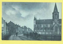 * Deinze - Deynze (Oost Vlaanderen) * (SBP, Nr 4) Pont De La Lys Et L'église, Brug Leie, Animée, Kerk, Tramway, Unique - Deinze