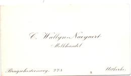 Visitekaartje - Carte Visite - Melkhandel C. Wallyn - Naeyaert - Uitkerke - Cartes De Visite