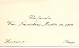 Visitekaartje - Carte Visite - Familie Van Nuwenborg - Marien - Brugge - Cartes De Visite
