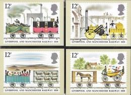 INGHILTERRA - LIVERPOOL AND MANCHESTER RAILWAY- SERIE 5 CARTOLINE  - EDIT. HOUSE OF QUESTA - NUOVE - Francobolli (rappresentazioni)