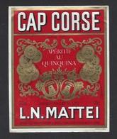 Etiquette De Cap Corse   Mattei 100 Cl -  Sté Des Vins Du Cap Corse à Borgo Bastia  Corse (20) - Etiquettes