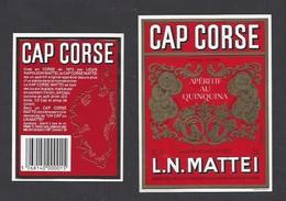 Etiquette De Cap Corse   Mattei75 Cl -  Sté Des Vins Du Cap Corse à Borgo Bastia  Corse (20) - Etiquettes