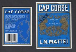 Etiquette De Cap Corse Bianco   Mattei 75 Cl -  Sté Des Vins Du Cap Corse à Borgo Bastia  Corse (20) - Etiquettes