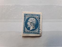 Empire No 14 Obl Pc 675 De CENNES MONESTIES, Aude, Indice 10 , Sur Fragment SUPERBE - 1853-1860 Napoléon III