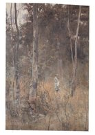 (123)  Australia - (with Stamp At Back Of Card) VIC - Art Painting By F. McCubbin - Australie