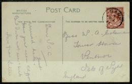 Ref 1247 - 1921 La Coupee Sark Channel Islands Postcard - Scarce 1 1/2d Rate - Good Postmark - 1902-1951 (Kings)