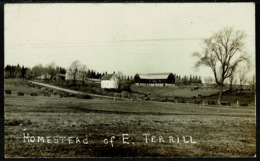 Ref 1247 - Real Photo Postcard - Homestead Of E. Terrill - Birmingham Canada Or USA - To Identify