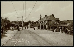 Ref 1247 - Early Postcard - Manx Electric Railway Groudle Station - Isle Of Man IOM - Isle Of Man
