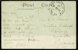 Ref 1247 - 1919 Postcard Egypt Nile Sunset Good Scarce GB APO Army Post Office SZ 25 Postmark - 1915-1921 British Protectorate