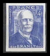 France N°599 Physicien (physic) Edouard Branly Non Dentelé ** MNH (Imperforate) - France