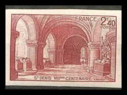France N°661 Basilique De Saint-Denis Non Dentelé ** MNH (Imperforate) - France