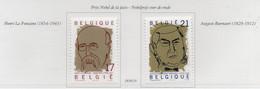 PIA  -   BELGIO  -  1999 : Premi Nobel Per La Pace -  (Yv  2838-39 ) - Bélgica