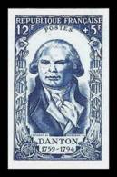 France N°870 Danton Revolution Francaise 1789 - 1950 Essai (trial Color Proof) Non Dentelé (imperforate) ** - Essais