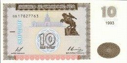Armenia 10 Dram 1993  Pick 33 UNC - Arménie