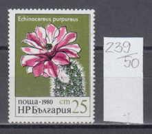 50K239 / 3002 Bulgaria 1980 Michel Nr. 2948 - Cactus Kakteengewachse Cactaceae - Igelsaulenkaktus - Sukkulenten