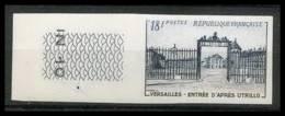 France N°988 Grille D'entrée Du Château De Versailles (castle) Non Dentelé ** MNH (Imperforate) - France