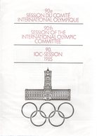DDR-Gedenkblatt,90.IOC-Session 1985, A 4-1985-a - DDR