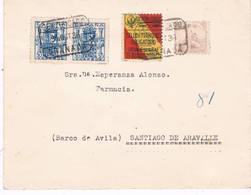 España. Carta Con Pareja De Sellos De Granada Circulada Por Correo Certificado - 1931-50 Lettres