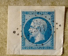 LOSANGE PETITS CHIFFRES  2541 DE PONTVALLAIN - 1853-1860 Napoleon III