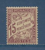 Monaco Taxe - YT N° 5 - Neuf Avec Charnière - 1905 à 1909 - Portomarken
