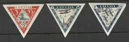 LATVIA 1933 Michel 225 - 227 B * - Lettland