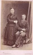 CDV PHOTO -COUPLE/MAN @ WOMAN. SALCOMBE  STUDIO - Photographs