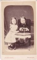 CDV PHOTO -2 SMALL CHILDREN  . DEVONPORT  STUDIO - Photographs