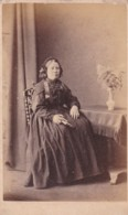 CDV PHOTO -SEATED LADY HOLDING BOOK .  SALCOMBE STUDIO - Photographs