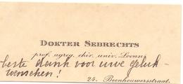 Visitekaartje - Carte Visite - Professor Dokter Sebrechts - Brugge - Cartes De Visite