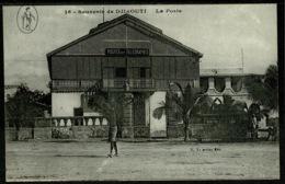 Ref 1248 - Early Postcard - Telegraph & Post Office - Djibouti East Africa - Djibouti