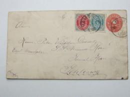 1895 , VAMDRUP , Ganzsache Nach Deutschland - 1864-04 (Christian IX)