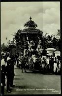 Ref 1248 - Real Photo Postcard - Indian Vel Festival Procession Colombo Sri Lanka Ceylon - Sri Lanka (Ceylon)