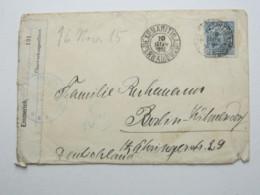 1915 , EXP. MARITIMA , Letter To Allemanhia With Censur , Exp.  Ship  SS  TUBANTIA - Brasil
