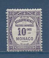 Monaco Taxe - YT N° 14 - Neuf Sans Charnière - 1919 - Segnatasse