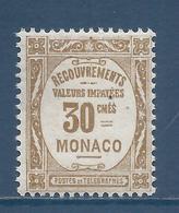 Monaco Taxe - YT N° 15 - Neuf Sans Charnière - 1919 - Segnatasse