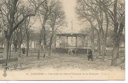 92      Asniéres        Une Allée Du Parc  & Le Kiosque à Musique - Asnieres Sur Seine