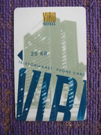 Magnetic Card,Viru Hotel, 25KR, Void 12/96 - Estonia