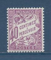 Monaco Taxe - YT N° 19 - Neuf Sans Charnière - 1926 à 1943 - Segnatasse