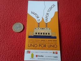 SPAIN MARCAPÁGINAS BOOKMARK BOOK MARK SM BARCO DE VAPOR TROQUELADO CAMPAÑA SOLIDARIA SHIP BOAT SOLIDARIDAD SOLIDARITY VE - Marcapáginas