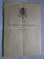 Anzegem 1922. Akte - Manuscrits