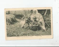 OUROUNDI TROIS OISILLONS  RECUEILLIS A LA MISSION (SOEUR ET PETITS ENFANTS) 1931 - Ruanda-Urundi