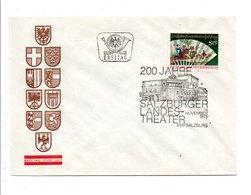 AUTRICHE FDC 1975 BICENTENAIRE THEATRE DE SALZBOURG - FDC